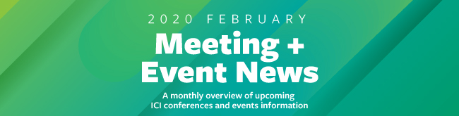 Upcoming ICI events and sponsorship information